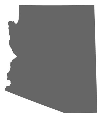 Map of Arizona, a province of United States.