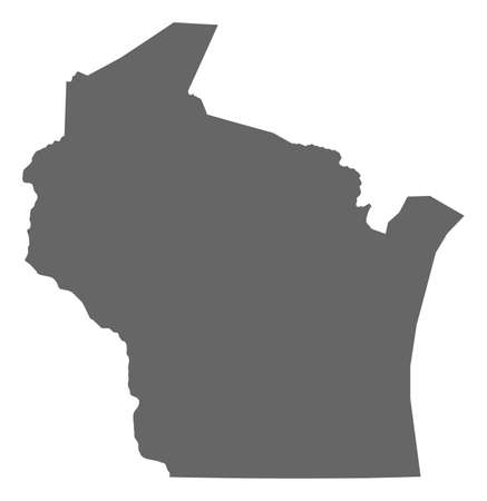 Map of Wisconsin, a province of United States. Illustration
