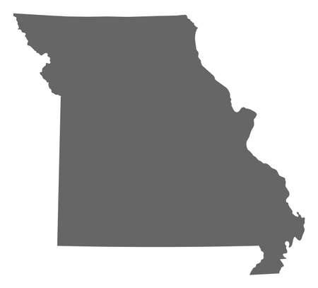 Map of Missouri, a province of United States.