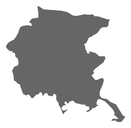 Map of Friuli-Venezia Giulia, a province of Italy.