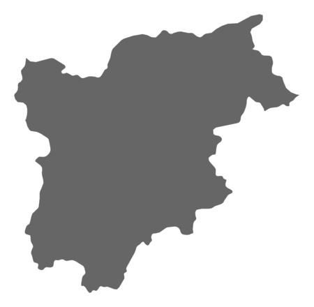 Map of Trentino-Alto Adige/S?dtirol, a province of Italy. Vector Illustration