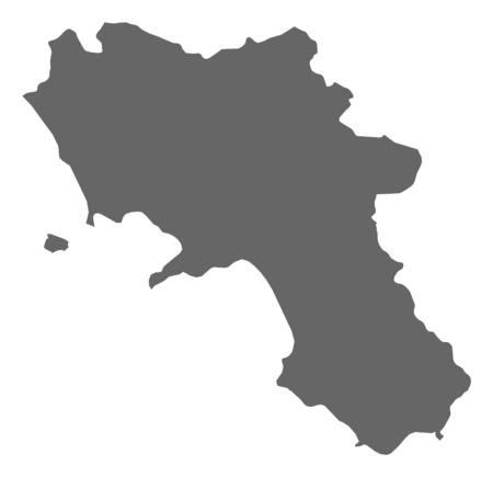 Map Of Campania A Province Of Italy Royalty Free Cliparts Vectors