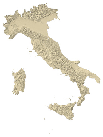 regions: Map of Italy with shaded relief.