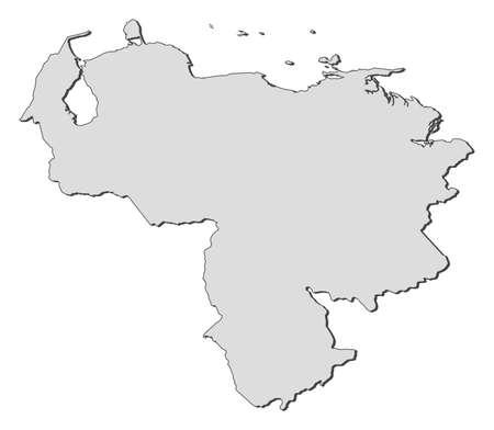 mapa de venezuela: Mapa de Venezuela, llena de color gris.