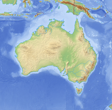 australie: Relief Map of Australia and nearby countries. Stock Photo