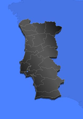 Map of portugal and nearby countries portugal as a black piece map of portugal and nearby countries portugal as a black piece stock vector gumiabroncs Image collections