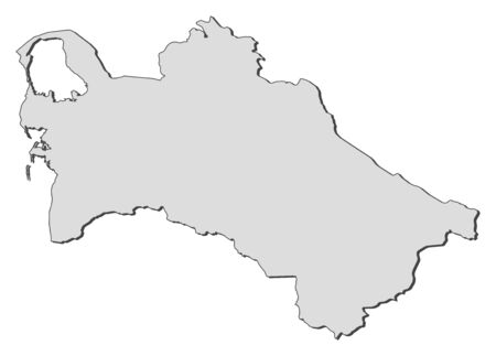 shady: Map of Turkmenistan, filled in gray.