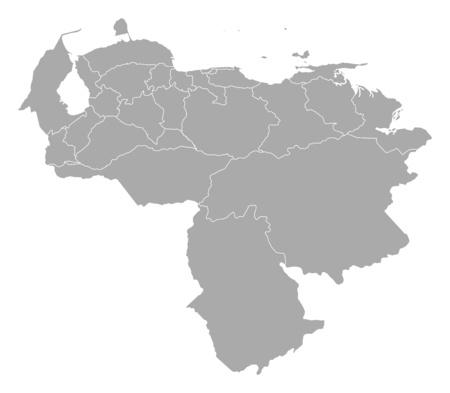 provinces: Map of Venezuela with the provinces.