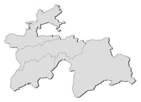 provinces: Map of Tajikistan with the provinces.