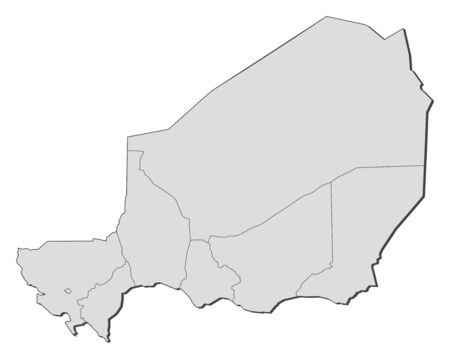 republique: Map of Niger with the provinces.