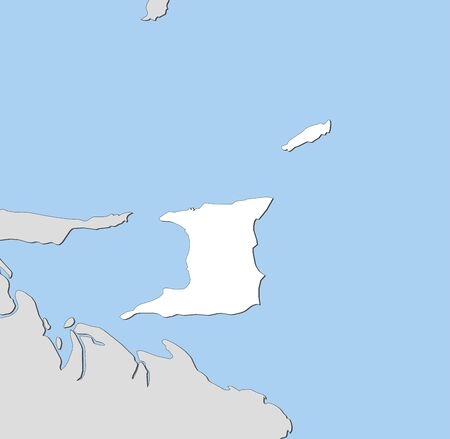 trinidad: Map of Trinidad and Tobago and nearby countries, Trinidad and Tobago is highlighted in white.