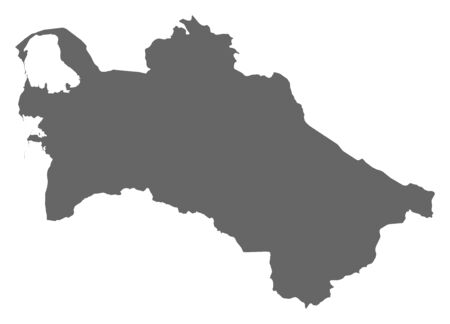 turkmenistan: Map of Turkmenistan as a dark area.
