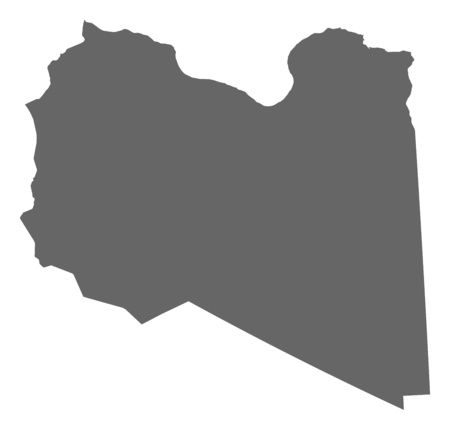 lybia: Map of Libya as a dark area.