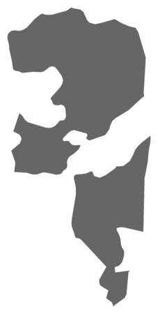southwest asia: Map of Fujairah, a province of United Arab Emirates. Illustration
