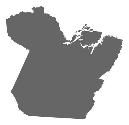par: Map of Par?, a province of Brazil.