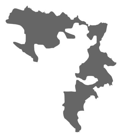 bosna: Map of Republika Srpska, a province of Bosnia and Herzegovina.