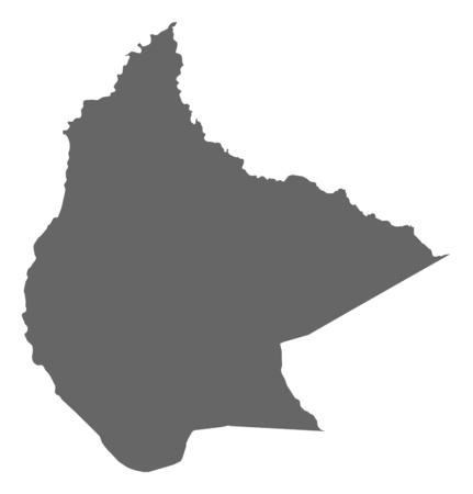 mapa de bolivia: Mapa de Beni, una provincia de Bolivia.