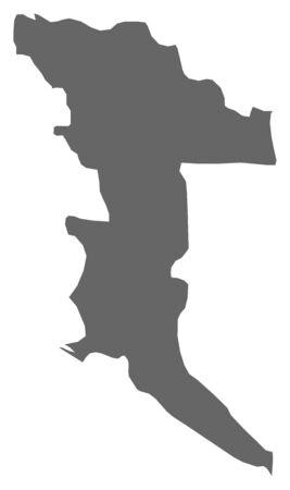 bosna: Map of Herzegovina-Neretva, a province of Bosnia and Herzegovina. Illustration