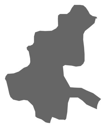 sarajevo: Map of Sarajevo, a province of Bosnia and Herzegovina. Illustration