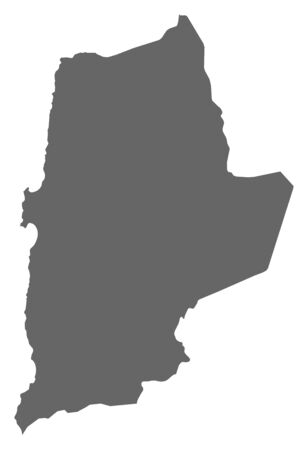 the americas: Map of Antofagasta, a province of Chile.