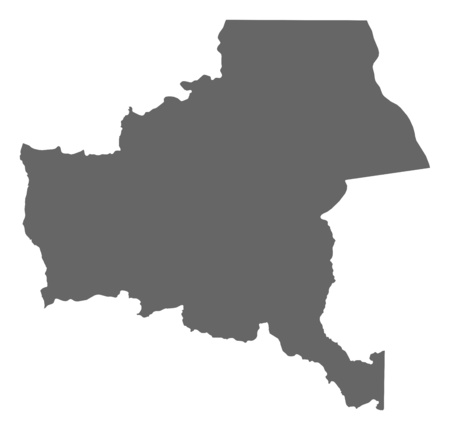 zaire: Map of Katanga, a province of Democratic Republic of the Congo.