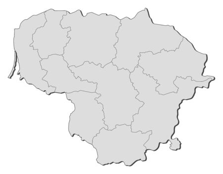 provinces: Map of Lithuania with the provinces.