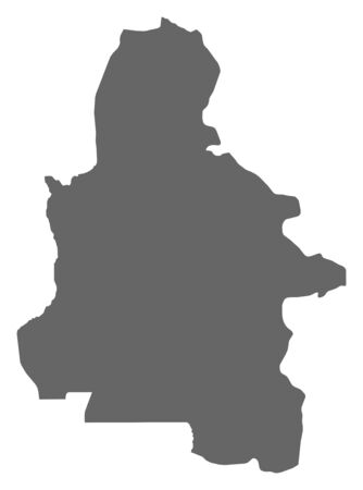 zaire: Map of Kasai-Occidental, a province of Democratic Republic of the Congo.