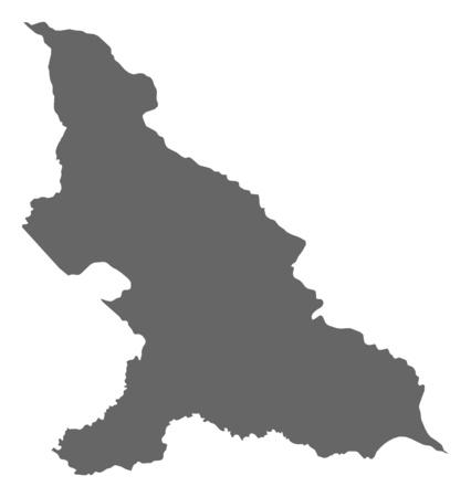 republique: Map of Haut-Mbomou, a province of Central African Republic.