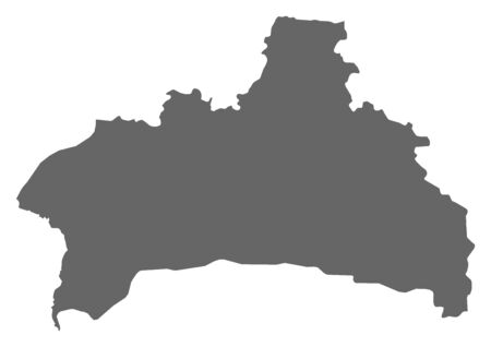 Map of Brest, a province of Belarus.