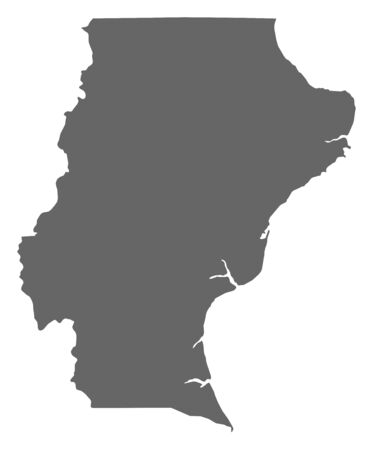 santa cruz: Map of Santa Cruz, a province of Argentina.