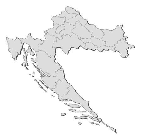 provinces: Map of Croatia with the provinces.