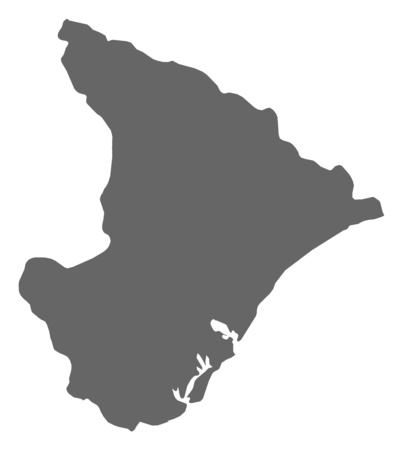 Map of Sergipe, a province of Brazil.