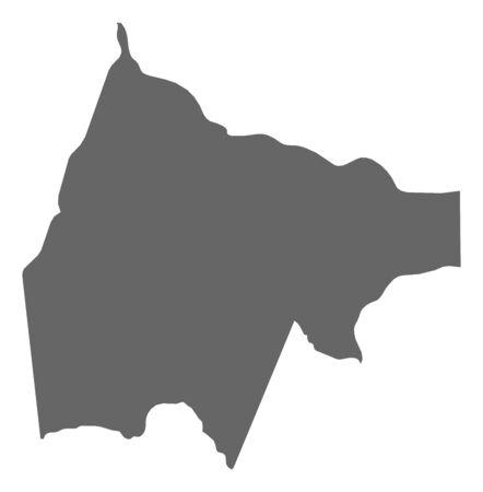 Map of Gash-Barka, a province of Eritrea.
