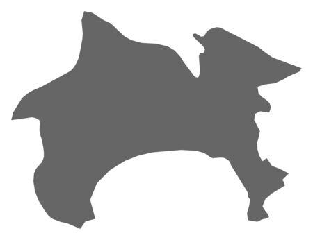 kanagawa: Map of Kanagawa, a province of Japan.