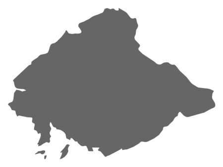 north korea: Map of North Pyongan, a province of North Korea. Illustration