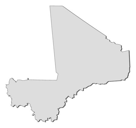 republique: Map of Mali, filled in gray.