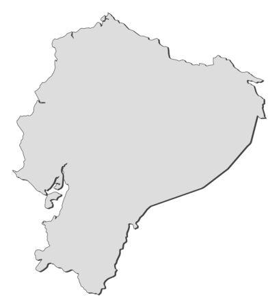republic of ecuador: Map of Ecuador, filled in gray.