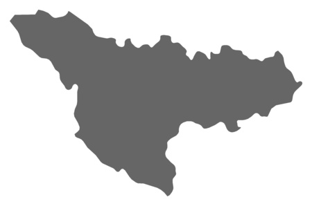 Map of Timis, a province of Romania.