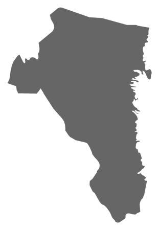 sverige: Map of G?vleborg County, a province of Sweden.