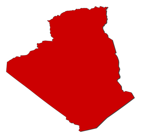 shady: Map of Algeria with the provinces, colored in red.