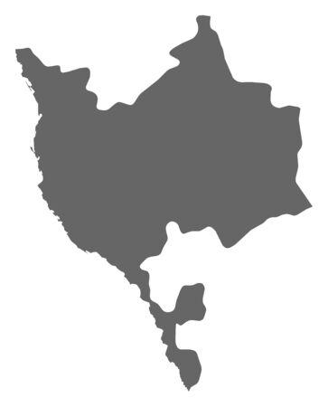 southwestern asia: Map of Makkah, a province of Saudi Arabia. Illustration
