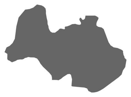 southwestern asia: Map of Al Bayda, a province of Yemen.