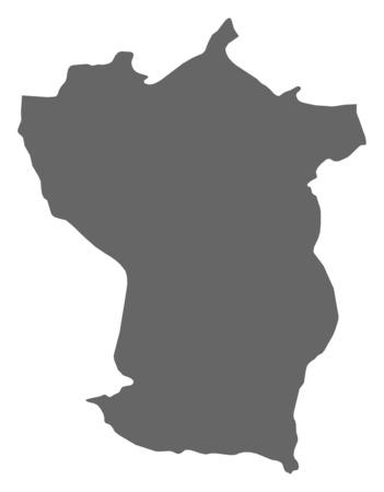 mapa de venezuela: Mapa de Cojedes, una provincia de Venezuela.