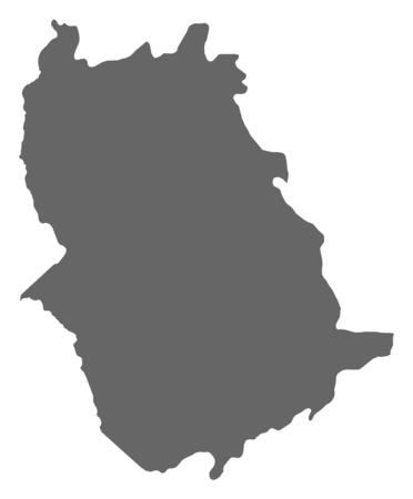 mapa de venezuela: Map of Amazonas, a province of Venezuela.