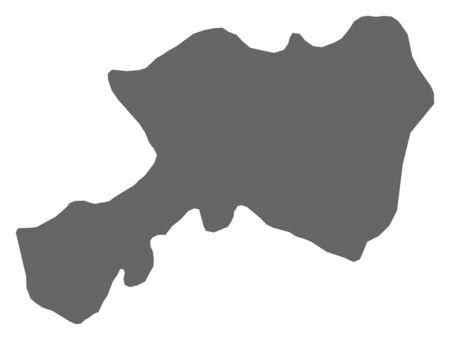 southwestern asia: Map of Dhamar, a province of Yemen. Illustration