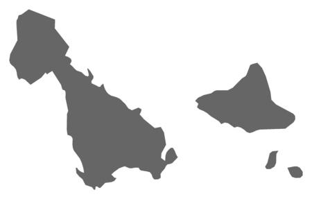 vanuatu: Map of Malampa, a province of Vanuatu.