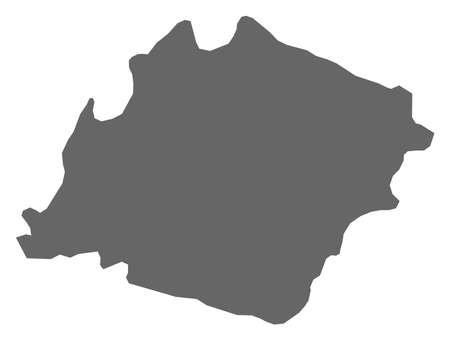 southwestern asia: Map of Ibb, a province of Yemen.