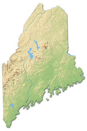 Maine Location On The US Map Maine Maps PerryCastaeda Map