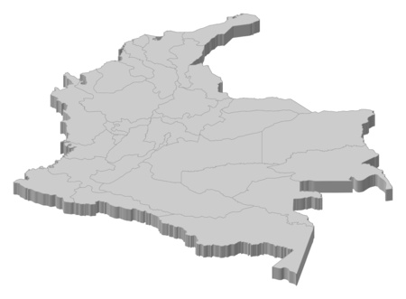 Map of Colombia as a gray piece.