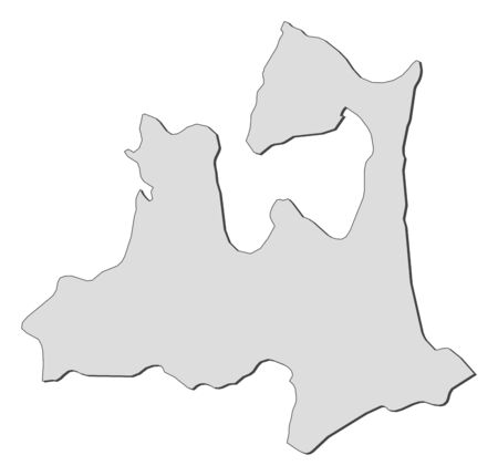 Map of Aomori, a province of Japan. Illustration